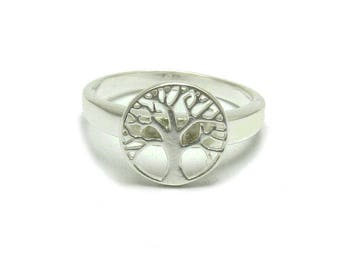 Sterling silver ring Tree of life solid 925 pendant