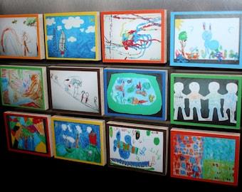 Set of 12 Kid's Memory Magnets MM0004