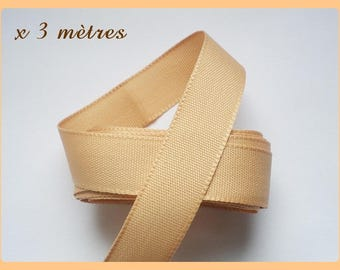 extra strong 15 mm light brown Ribbon 3 meters