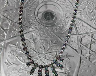 Heliotrope Rhinestone Necklace