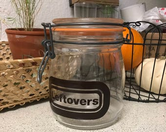 "Vintage apothecary jar ""leftovers"""
