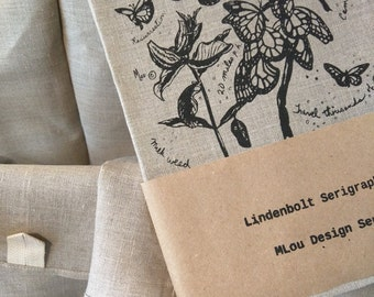 Monarchs Linen Tea Towel