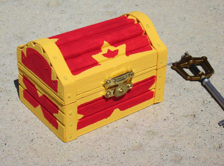 Kingdom Hearts inspired treasure chest trinket / jewelry box