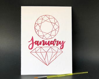 January Birthstone - Paint kit