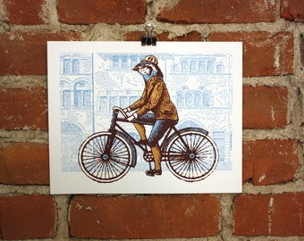 Tour de Finch - Silkscreen 8x10 Art print