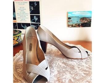 Vintage 1980's peep toe heels