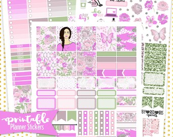 Summer Sale  EC Purple Daze | PRINTABLE Planner Stickers | Pdf, Jpg, and Png Format | Erin Condren Vertical Planner Stickers