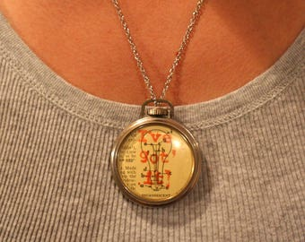 I've Got It Pocket Watch Necklace