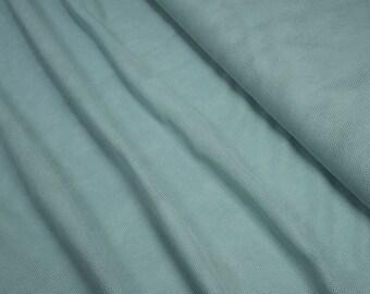 Organic Cotton Tulle Fabric soft C. Pauli stone blue 0.54yd (0,5m)
