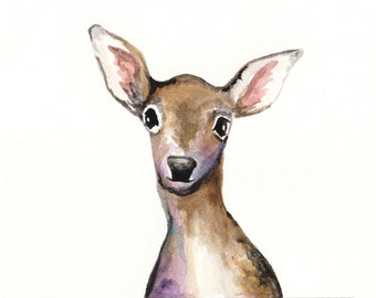 Deer II-Art print of an original watercolor