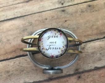 Custom Word Bracelet - Inspirational Bracelet - Bible Verse Bracelet - Floral Bracelet - Gift for Her - Birthday Gift Idea - Custom Jewelry