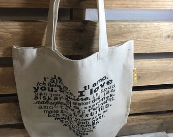 Tote bags, grocery bag, of course, beach, linen shopping bag, personalized.