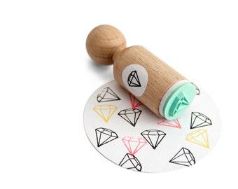 Diamond Mini Stamp with mint rubber, diamond ink stamp, diamond rubber stamp, diy diamond, diamond pattern
