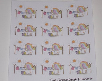 12 Unicorn Laundry Stickers / Clothesline Stickers /