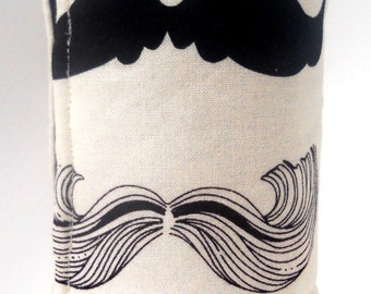 I Moustache You a Question Reusable Handmade Beer/Soda Can Cozy