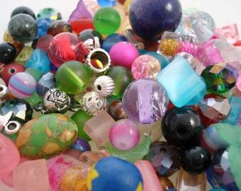 Destash Beads, Destash Bead Mix, Destash Lot, Jewelry Supplies, Beading Supplies, Bead Soup, Assorted Beads, Glass Beads, Bulk, Mixed Beads
