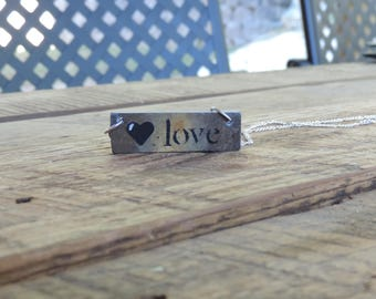 Love Upcycled Slate Necklace