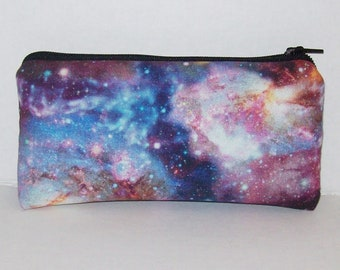"""Outer Space, Zipper Bag, Stoner Gifts, Padded Pipe Pouch, Glass Pipes, 420, Pipe Bag, Smoke Accessory, Pipe Case, Trippy Gift - 5.5"""" SMALL"""
