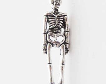 Skeleton Tie Tack, Skeleton Tie Pin, Skeleton Lapel Pin, Skull Tie Tack, Goth Gifts for Men, Skull Tie Clip, Anatomy Pin, Skeleton Jewelry