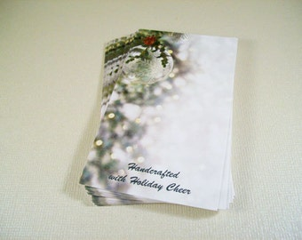 25 Holiday Cheer Design Earring Display Cards 3.5x2 inches
