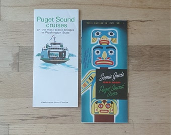 Vintage Washington State ferry schedules from the 1950's/60's