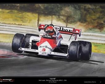 Niki Lauda McLaren TAG Porsche MP4/2 1984 Limited Edition Fine Art Print