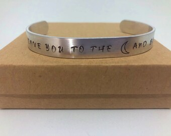 Love You to the Moon and Back Cuff Bracelet, Jewelry
