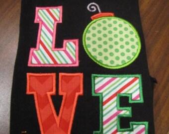 Love ornament applique
