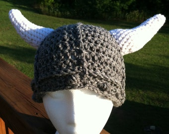 Viking Helmet Viking Beanie Viking Hat Viking costume viking photo prop