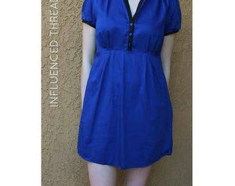 Armani Exchange Blue Structured Dress