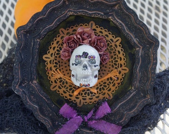 Halloween Wall Hanging Ornament Day of the Dead Skeleton