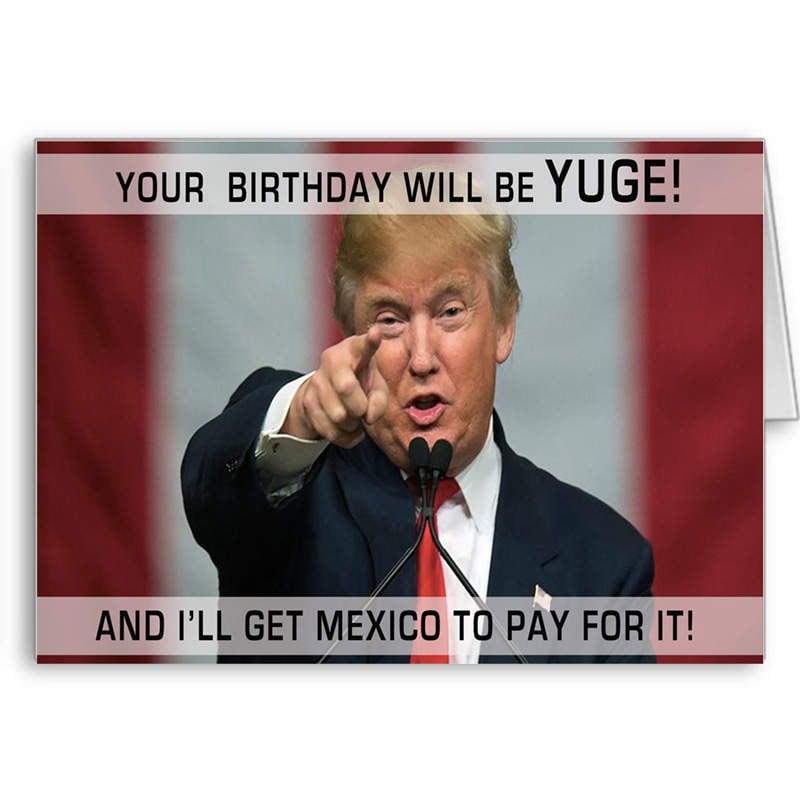 Amazon Com Funny Birthday Card Donald Trump Birthday: Trump Birthday Card Funny Trump Card Political Card