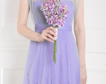 Lilac & Silver Flower Bridesmaid Bouquet - Silk Flower Purple Wedding Bouquet - Lilac Bouquet, Purple Bouquet, Bouquet for Bridesmaids