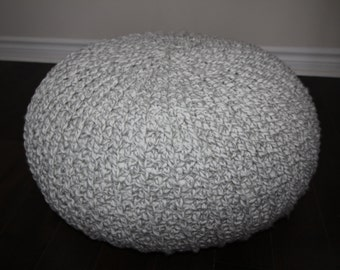 Pouf ottoman crochet