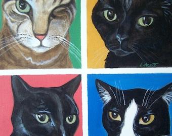 Custom Pet Portrait in Pop Art style, 18x24 acrylic painting