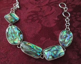Lovely Abalone Sterling Silver Bracelet