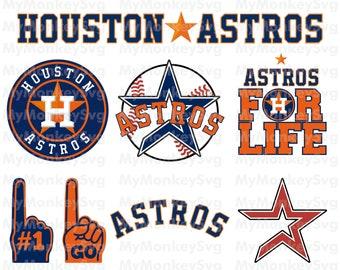 Houston Astros Baseball Clipart SVG, Baseball Clipart, Astros SVG, Baseball SVG, Decal, Vinyl, T-Shirt, Instant Download, Eps,Png,Dxf,Banner