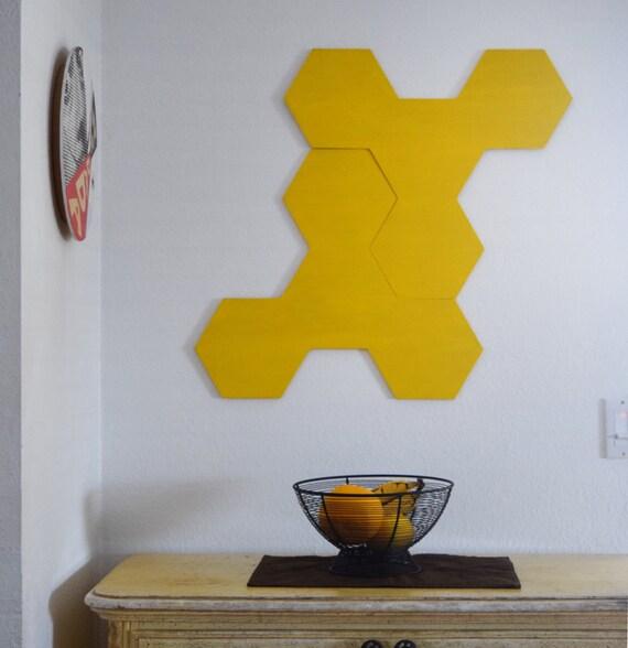 3D Wall Sculpture Two Piece Wood Wall Art Modern Geometric