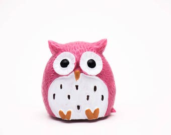 DIY Lip balm empty container - Pink Owl