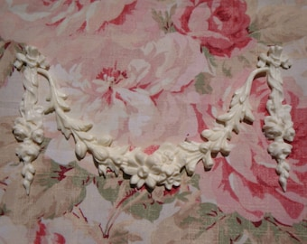 Shabby and Chic Ribbon Roses Swag & Drops Furniture Appliques