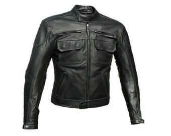 Leather biker jacket biker jacket men clothing men leather jacket black mens leather jacket men biker jacket choppers jacekt motorcycle