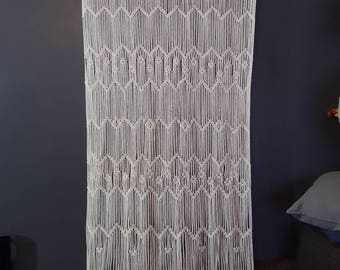 "Title: Poison 30"" 36"" Wide Macrame Door Curtain 