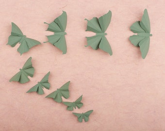 3D Butterfly Wall Art: Spruce Green Wall Butterflies for Girls Room, Nursery Decor