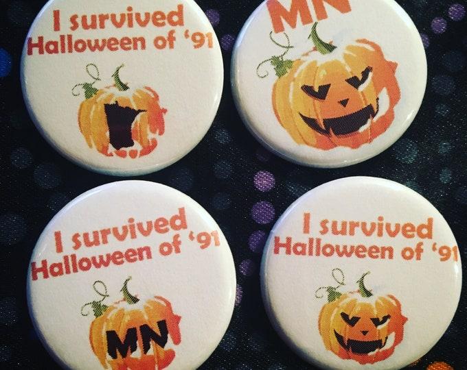 Minnesota Halloween 1991 Button or Magnet Flair Award Pinback Impulse Item 4 pack