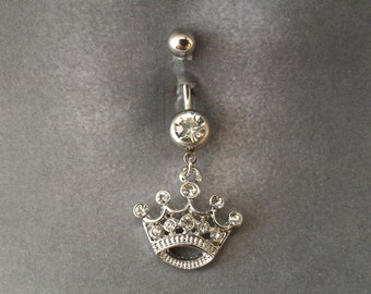belly button ring Queen's Crown