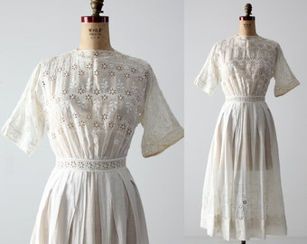 antique Edwardian white dress