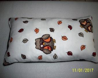 """Cuddle pillow, kids, """"OWL design"""", purry, new handmade"""