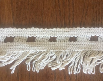 10 yards cream fringe