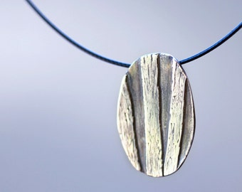 wildwood, pendant, fine silver, pmc, precious metal clay