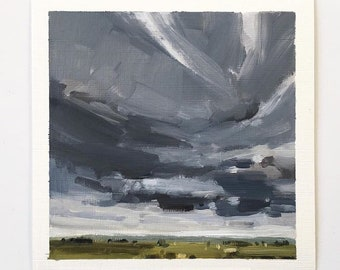 "Drifting • original 5.5 x 5.5"" oil painting"
